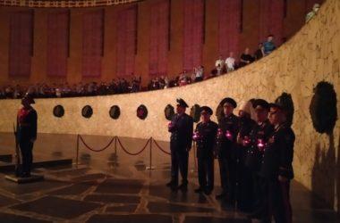 Митрополит Феодор принял участие в памятной акции на Мамаевом кургане «Завтра была война»