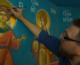 Видео: Заканчивается роспись легендарного храма на заводе «Красный Октябрь» в Волгограде
