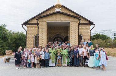 В новом храме преподобного Павла врача прошёл первый престольный праздник