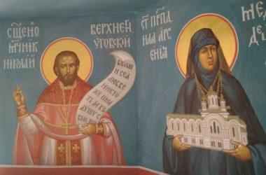 В храме Георгия Победоносца появились фрески с ликами святых нашего края