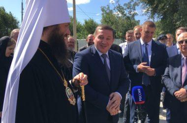 Строительство собора Александра Невского в Волгограде идет по графику