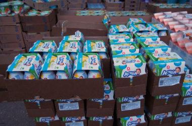 Многодетным семьям переданы наборы детского питания