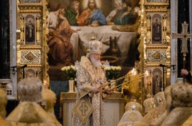 Архиереи Волгоградской митрополии приняли участие в Литургии по случаю дня рождения Святейшего Патриарха Кирилла