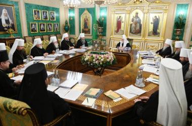 Святейший Патриарх Кирилл возглавил последнее в 2019 году заседание Священного Синода Русской Православной Церкви