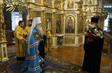 В день своей хиротонии митрополит Герман возглавил Божественную литургию в Казанском соборе