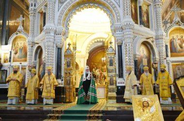 Слово Святейшего Патриарха Кирилла после Литургии в Храме Христа Спасителя в Неделю по Богоявлении