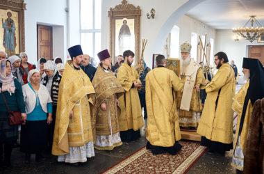 Митрополит Герман возглавил Литургию в храме святой Параскевы