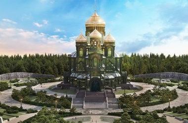 Завершено строительство нижней церкви главного храма Вооруженных сил России