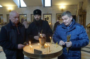 Губернатор Андрей Бочаров в Прощеное воскресенье посетил храм Сергия Радонежского
