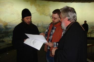 В музее «Сталинградская битва» прошла рабочая встреча Владыки Феодора с иконописцем
