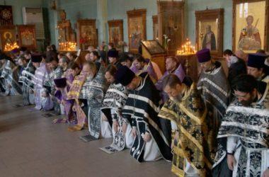 В Волгоградской епархии отслужили соборную Литургию Преждеосвященных Даров
