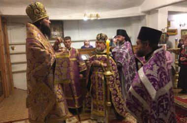 В храме Александра Невского в Верхней Ельшанке митрополит Феодор возглавил воскресное богослужение