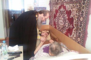 Таинство Соборования состоялось в доме-интернате для престарелых и инвалидов