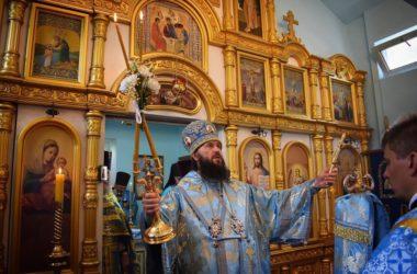 В храме Урюпинской иконы Божией Матери совершена праздничная Литургия