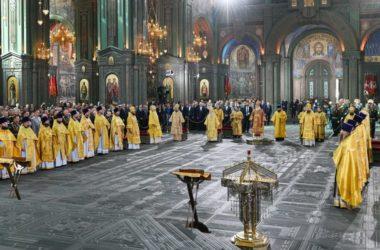 Святейший Патриарх Кирилл освятил главный храм Вооруженных сил России