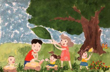 «Многодетный Волгоград» провел онлайн-конкурс рисунков «Я рисую счастье»