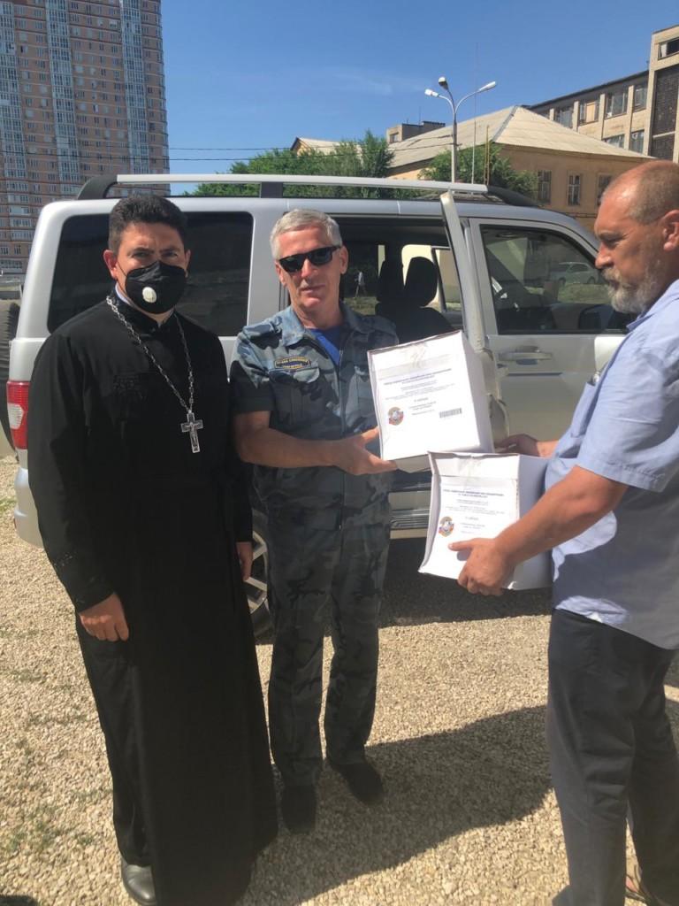 Отделом церковной благотворительности передан армейский паек ветеранам боевых действий