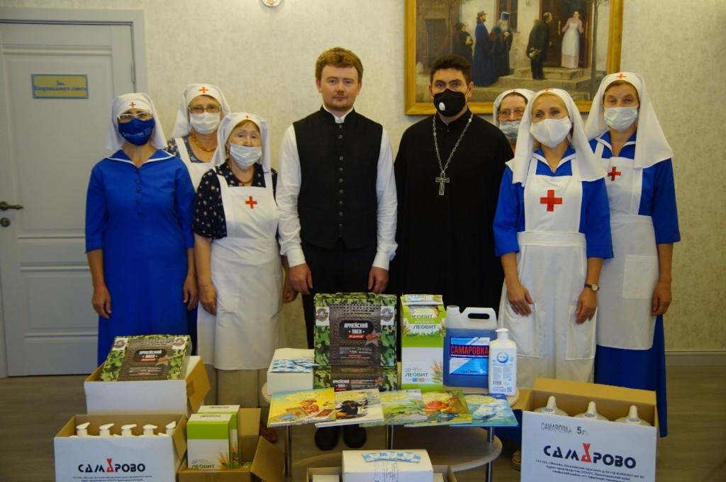 Волгоградской епархии передана гуманитарная помощь от Императорского православного палестинского общества