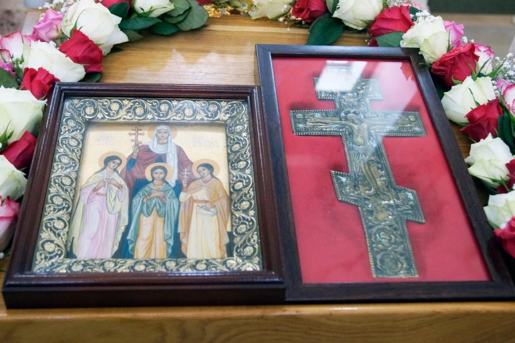 Евангелие дня: Литургия на престольный праздник в храме мучениц Веры, Надежды, Любови и матери их Софии