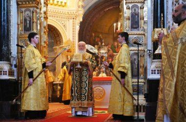 В день памяти святителя Московского Петра Предстоятель Русской Церкви совершил Литургию в Храме Христа Спасителя