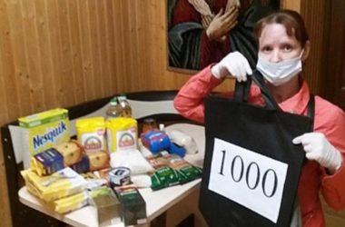 В Центре выдачи гуманитарной помощи Волгоградской епархии вручили тысячный набор продуктов