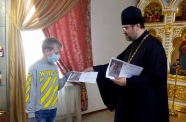 В Камышине наградили участников конкурса детских рисунков «Святой князь Александр Невский»