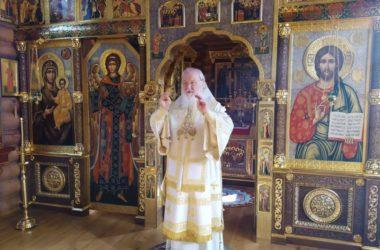 Святейший Патриарх Кирилл совершил Литургию в Александро-Невском скиту