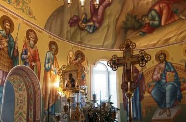 Завершена роспись алтарной части Спасо-Преображенского храма Волгограда