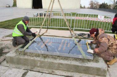 На Мамаевом кургане завершается реставрация могилы Маршала Советского Союза В. И. Чуйкова