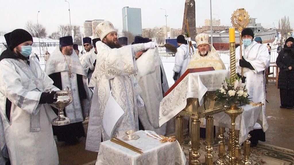 В Волгограде состоялось Великое освящение вод реки Волги