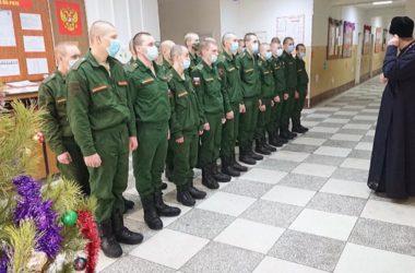 Армейские душепопечители провели Рождественские и Крещенские богослужения в воинских частях