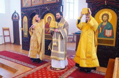 Литургию в Свято-Вознесенском Дубовском монастыре возглавил митрополит Феодор