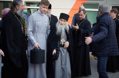 В Волгограде встретили схиархимандрита Илия (Ноздрина)