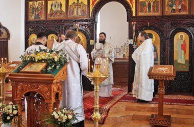 Митрополит Феодор возглавил Литургию в Свято-Вознесенском Дубовском монастыре