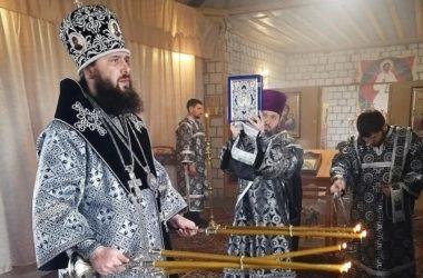 В поселке Самофаловка впервые состоялось архиерейское богослужение