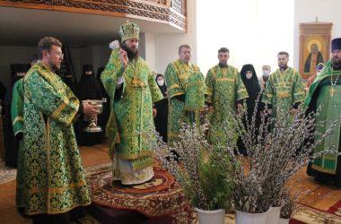 Накануне Вербного воскресенья митрополит Феодор совершил всенощное бдение