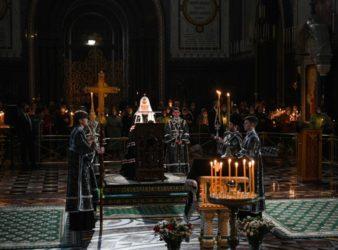 Святейший Патриарх Кирилл совершил утреню с чтением Великого канона преподобного Андрея Критского в Храме Христа Спасителя