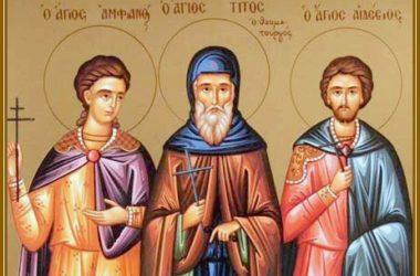 15 апреля — память преподобного Тита Чудотворца