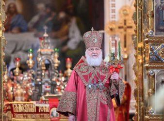 В праздник Светлого Христова Воскресения Святейший Патриарх Кирилл возглавил торжественное богослужение в Храме Христа Спасителя