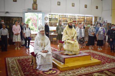 Митрополит Феодор и епископ Елисей возглавили Литургию в Ильинском храме