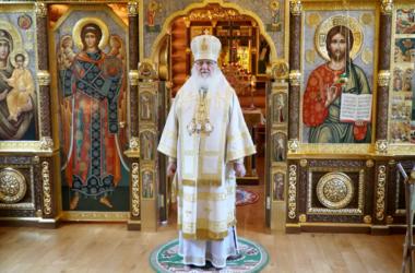 В день памяти равноапостольного князя Владимира Патриарх Кирилл совершил Литургию