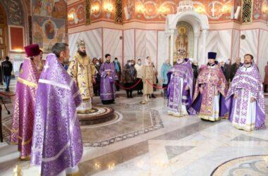 Праздник Воздвижения Креста Господня в Александро-Невском соборе