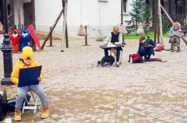 Юные художники Волгограда участвуют в пленэрах в Розе Хутор