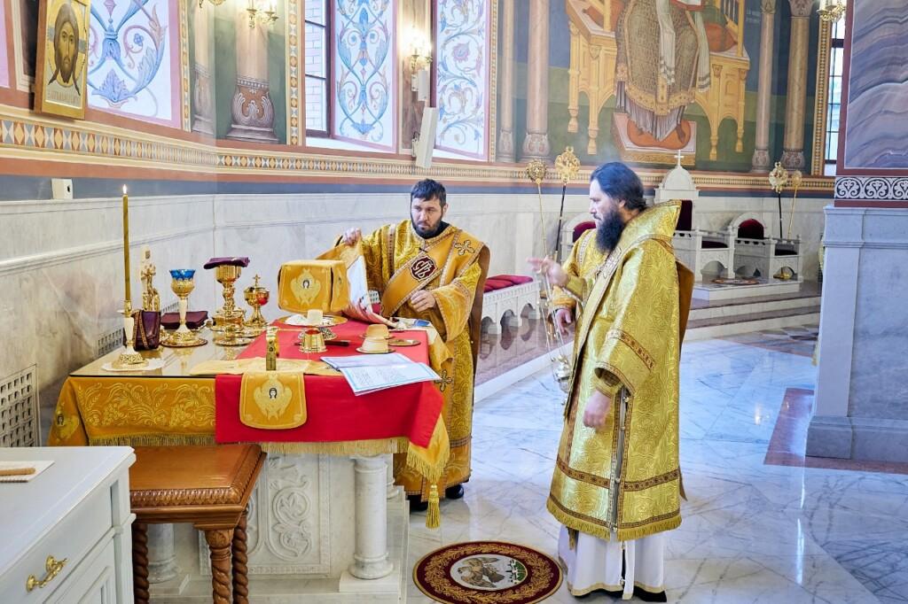 Митрополит Феодор совершил Литургию в соборе Александра Невского